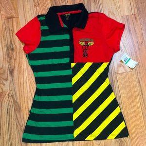NWT Rocawear Rasta color shirt L